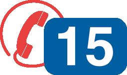 En cas d'urgence, appelez le plus rapidement possible le 15 (SAMU) ou le 112 (d'un téléphone portable).